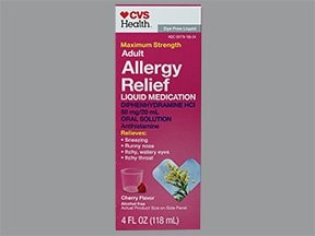 Allergy Relief (diphenhydramine) 12.5 mg/5 mL oral liquid