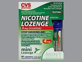 nicotine (polacrilex) 4 mg buccal mini lozenge