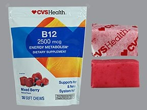 cyanocobalamin (vit B-12) 2,500 mcg chewable tablet