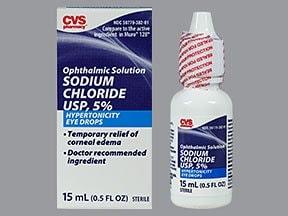 sodium chloride 5 % eye drops