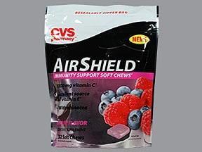 Airshield 250 mg-1.25 mg chewable tablet