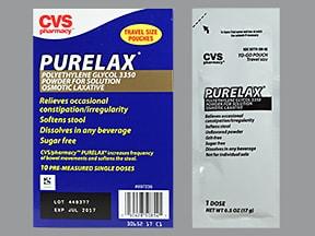 Purelax 17 gram oral powder packet
