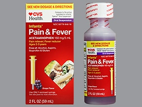 Infants' Pain and Fever 160 mg/5 mL oral suspension
