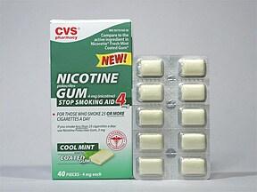 nicotine (polacrilex) 4 mg gum