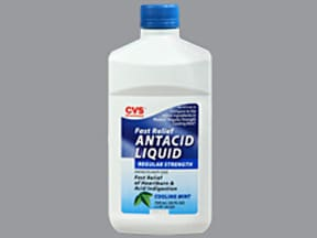 Antacid Liquid 200 mg-200 mg-20 mg/5 mL oral suspension