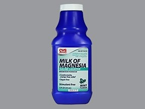 Milk of Magnesia 400 mg/5 mL oral suspension