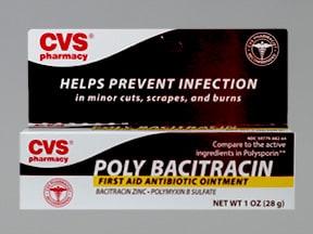 Poly Bacitracin (zinc) 500 unit-10,000 unit/gram topical ointment
