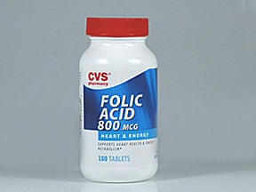 folic acid 800 mcg tablet