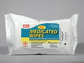 Medicated Wipes 50 % (pads)