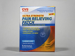 Pain Relieving (menthol) 5 % topical patch