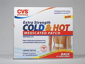 Cold and Hot Extra Strength 5 % topical patch