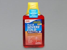 Flu and Severe Cold-Nighttime 25 mg-10 mg-650 mg/30 mL oral liquid