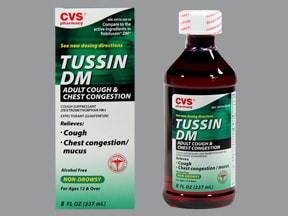 Tussin DM 10 mg-100 mg/5 mL oral liquid