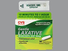 Gentle Laxative (bisacodyl) 10 mg rectal suppository