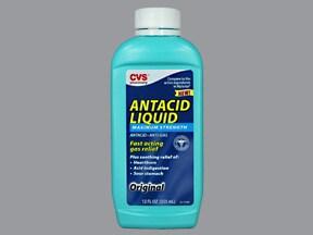 Antacid Anti-Gas 400 mg-400 mg-40 mg/5 mL oral suspension