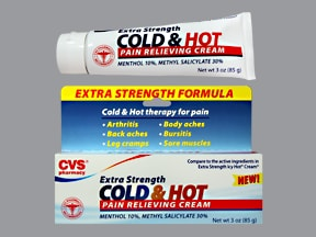 Cold and Hot Extra Strength 30 %-10 % topical cream