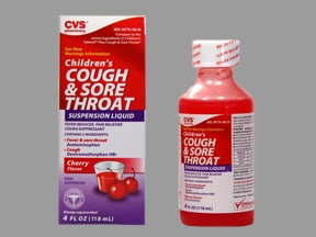 Child Cough and Sore Throat 160 mg-5 mg/5 mL oral suspension
