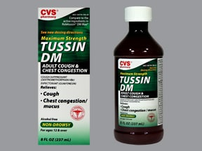 Tussin DM Max 10 mg-200 mg/5 mL oral liquid