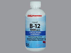 cyanocobalamin (vit B-12) 1,000 mcg/15 mL oral liquid