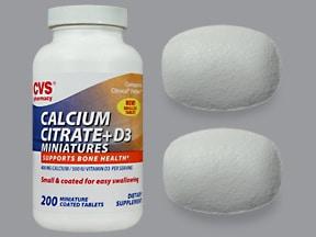 calcium citrate-vitamin D3 200 mg calcium-250 unit tablet