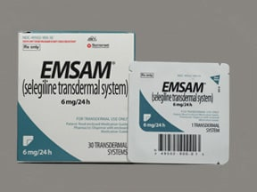 Emsam 6 mg/24 hr transdermal 24 hour patch