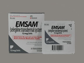 Emsam 12 mg/24 hr transdermal 24 hour patch