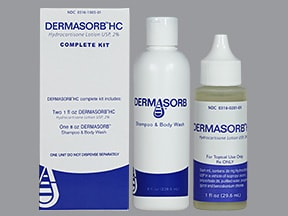 Dermasorb HC Complete Kit 2 % topical,cleanser and lotion