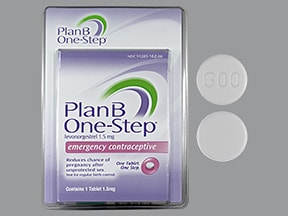 Plan B One-Step 1.5 mg tablet