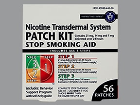 nicotine 21mg/24hr-14mg/24hr-7mg/24hr daily transderm patch,sequential