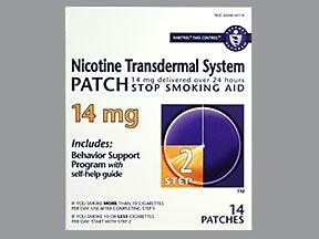 nicotine 14 mg/24 hr daily transdermal patch