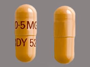 tacrolimus 0.5 mg capsule, immediate-release