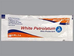 white petrolatum topical ointment in packet