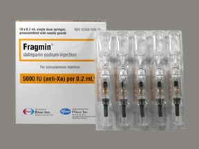 Fragmin 5,000 anti-Xa unit/0.2 mL subcutaneous syringe