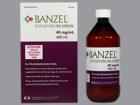Banzel 40 mg/mL oral suspension