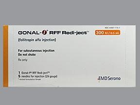 Gonal-F RFF Redi-Ject 300 unit/0.5 mL subcutaneous pen injector