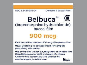 Belbuca 900 mcg buccal film