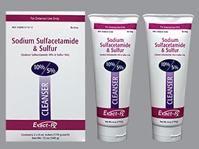 sulfacetamide sodium-sulfur 10 %-5 % (w/w) topical cleanser