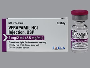 verapamil 2.5 mg/mL intravenous solution