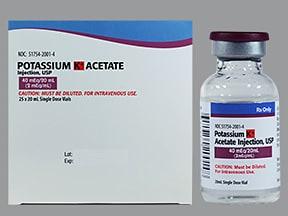 potassium acetate 2 mEq/mL intravenous solution