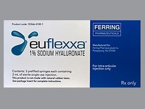 Euflexxa 10 mg/mL (mw 2.4-3.6 million) intra-articular syringe