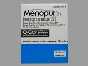 Menopur 75 unit subcutaneous solution