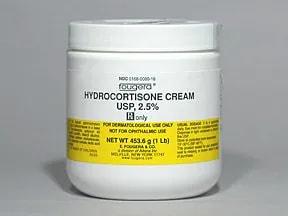 hydrocortisone 2.5 % topical cream