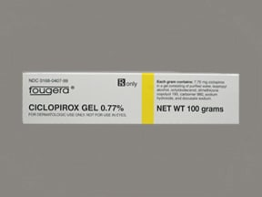 ciclopirox 0.77 % topical gel