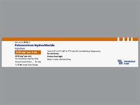 palonosetron 0.25 mg/5 mL intravenous syringe