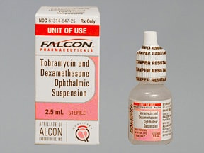 tobramycin 0.3 %-dexamethasone 0.1 % eye drops,suspension