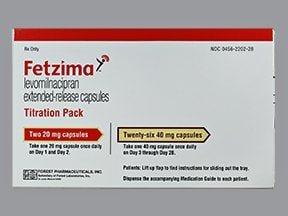 Fetzima 20 mg (2)-40 mg (26) capsule,extended release,24 hr,dose pack