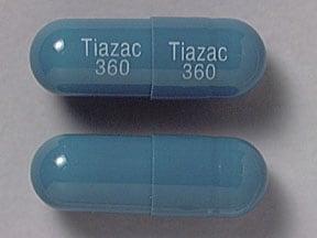 Tiazac 360 mg capsule,extended release