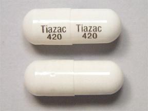 Tiazac 420 mg capsule,extended release