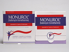 Monurol 3 gram oral packet