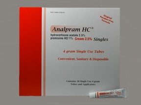 Analpram-HC Singles 2.5 %-1 % (4g) rectal cream